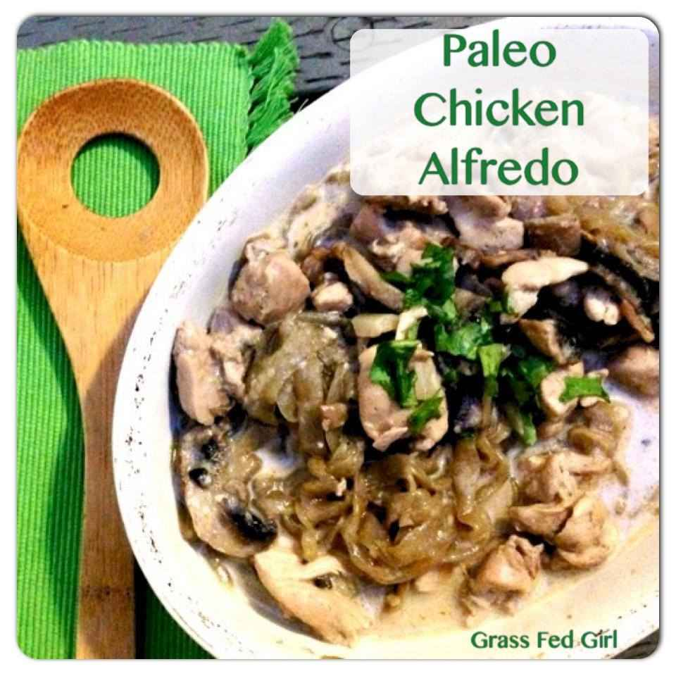 Paleo Chicken Alfredo with Kelp Noodles