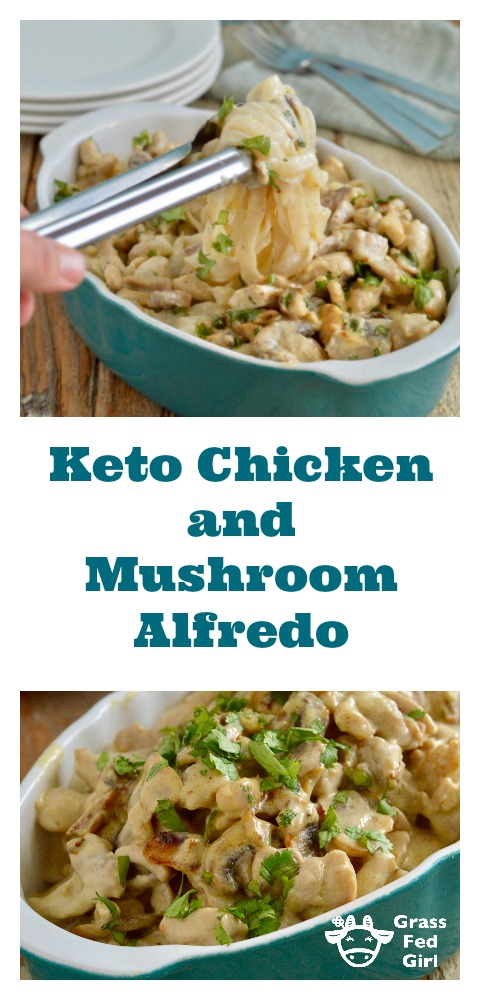 Keto Chicken Alfredo with Low Carb Noodles