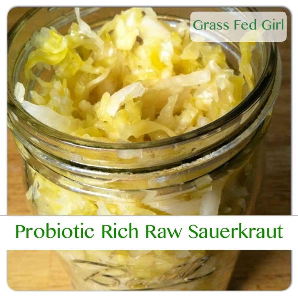 Easy Recipe for Probiotic Rich Raw Sauerkraut