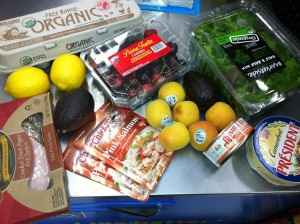 Shopping for my paleo hike and breakfast