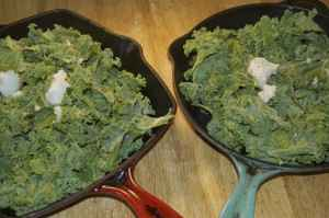 Kale before cooking