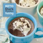 Keto dark chocolate gelatin pudding