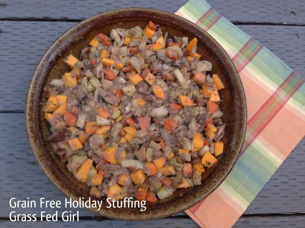 Grain Free Holiday Stuffing