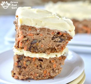 Keto Carrot Cake Recipe (Primal, Low Carb, Grain Free, Dairy Free, Sugar Free)