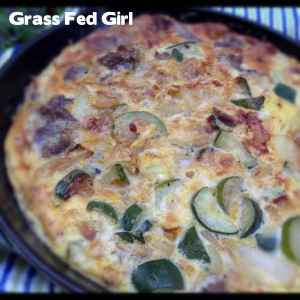Easy Paleo Grass Fed Beef and Zucchini Frittata