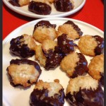 Chocolate Kissed Grain Free Coconut Macaroons