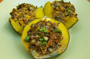 Grass Fed Bison Benefits with Grass Fed Bison and Cinnamon Stuffed Acorn Squash Recipe