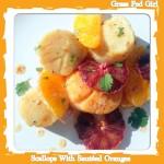 Paleo Pan Seared Scallops with Sauteed Oranges