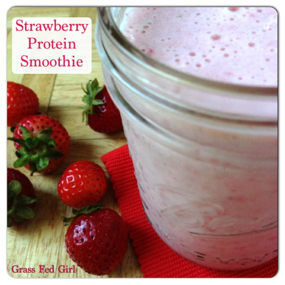 Healing Strawberry Gelatin Protien Smoothie