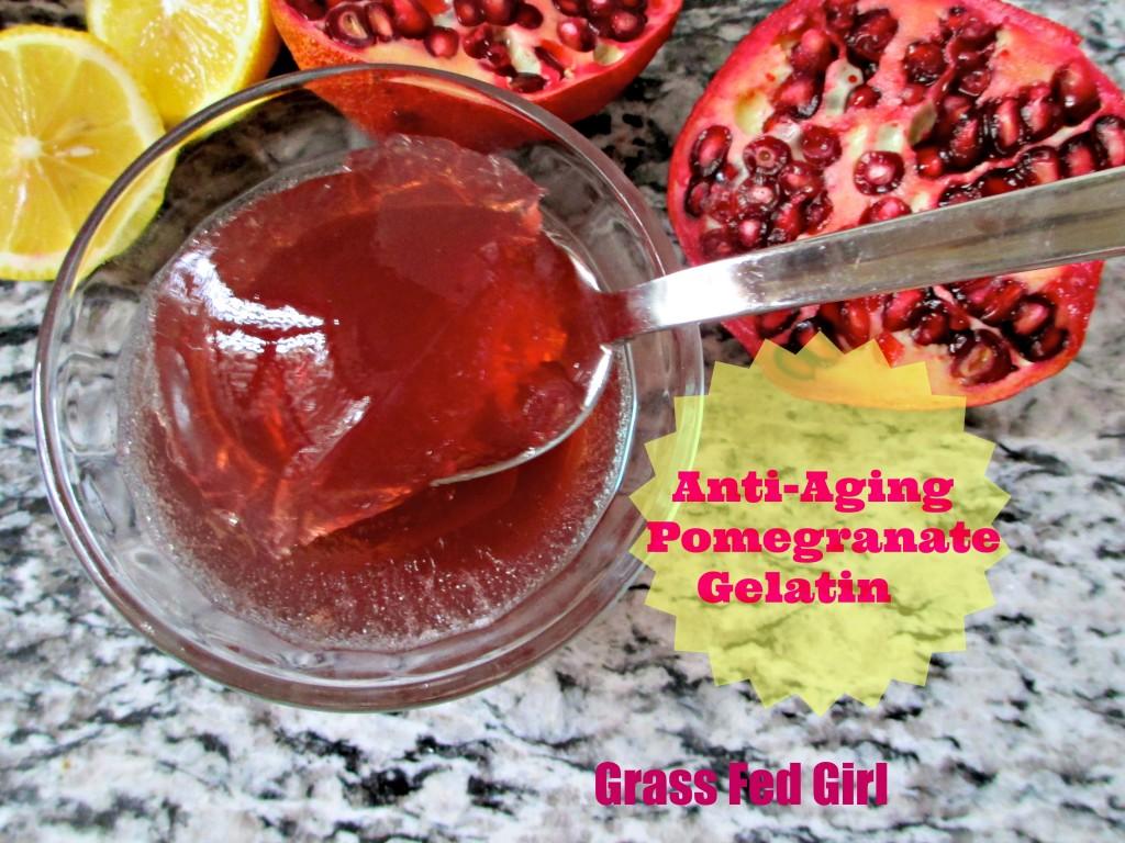 Anti-Aging Pomegranate Gelatin Treat