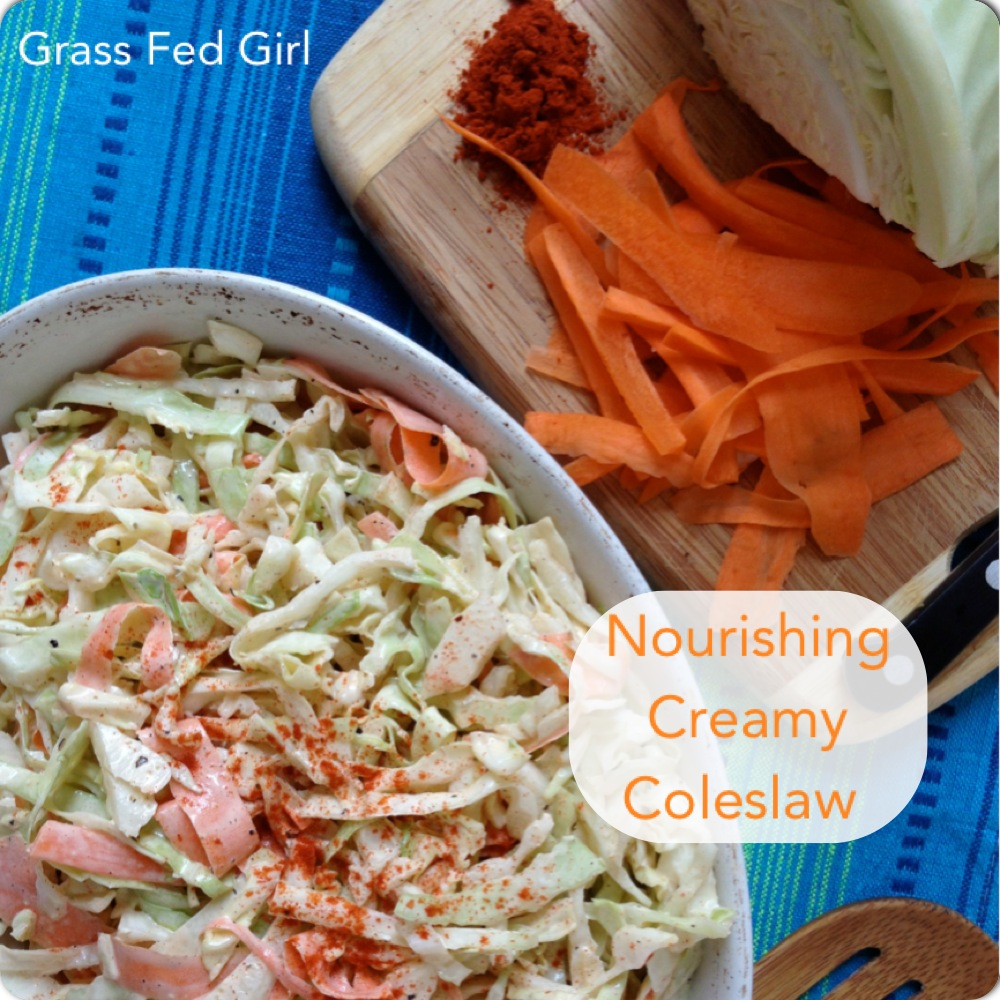 Creamy Paleo Coleslaw Recipe With A Kick And Summer BBQ