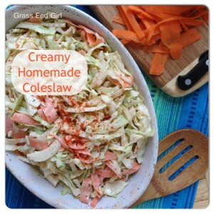 Creamy Paleo Coleslaw Recipe with a Kick and Summer BBQ Recipe Round Up