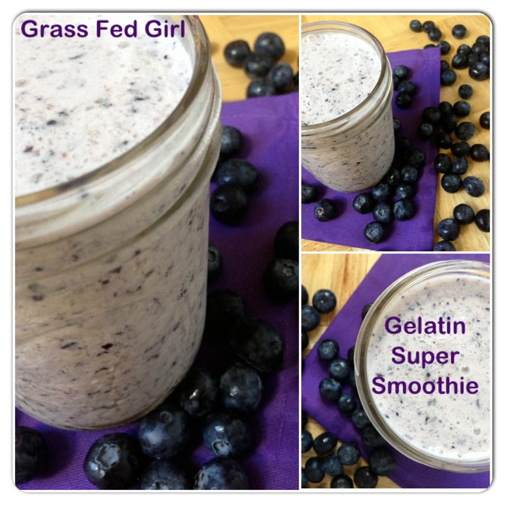 Easy Post Workout or Meal Replacement Blueberry Super Smoothie
