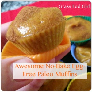No bake egg free paleo muffins with gelatin