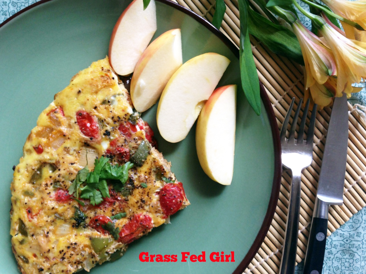 Easy Spicy Paleo Salmon Frittata (Gaps, SCD) | Grass Fed Girl