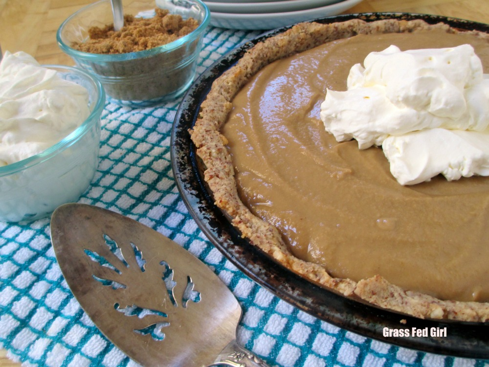 Paleo, Gluten, Grain and Dairy Free Butterscotch Pie