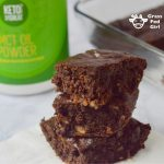 Paleo and Keto Fat Bomb Coconut Brownies (gluten free and dairy free)