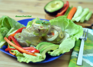 Paleo Olive, Egg, and Sardine Gelatin Mini Aspics