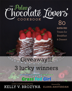The Paleo Chocolate Lovers' Cookbook Book Review and Giveaway