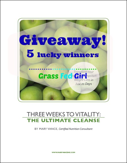TThree Weeks to Vitality: The Ultimate Cleanse Review & Giveaway