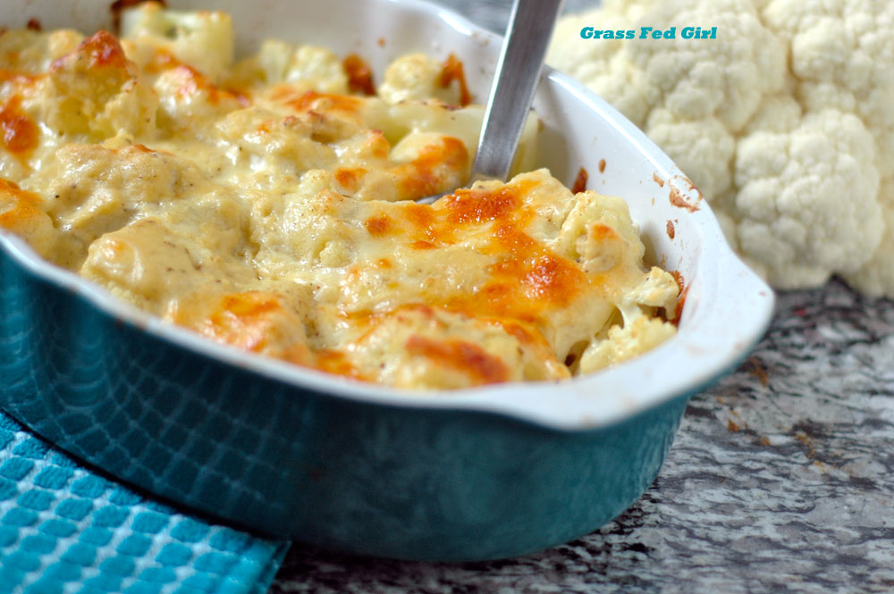 Keto and Low Carb Cauliflower Macaroni and Cheese Recipe