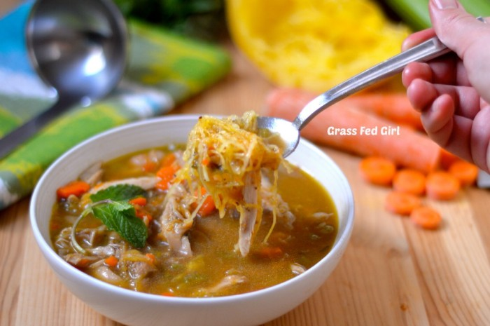 Grain Free Low Carb Turkey Noodle Soup