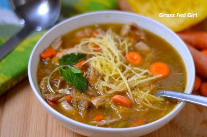Grain Free Low Carb Turkey Noodle Soup