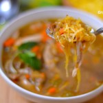 Grain Free Low Carb Turkey Noodle Soup (Paleo, Gaps, SCD)