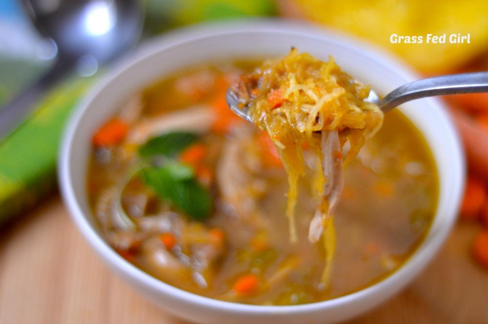 Grain Free Low Carb Turkey Noodle Soup (Paleo, Gaps, SCD) | Grass Fed ...