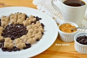 Café Latte Gelatin Gummy Bears (Paleo and gluten free)