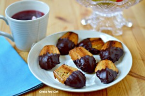 Chocolate Dipped French Madeleines
