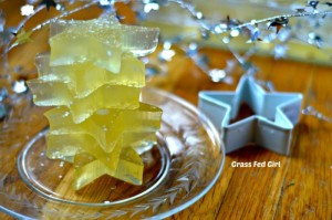 Coconut Water Gummie Stars (Low carb, Paleo, gluten-free natural gelatin shapes)
