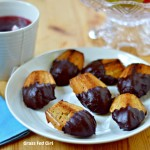 Chocolate Dipped French Madeleines (grain free, gluten free and Paleo)