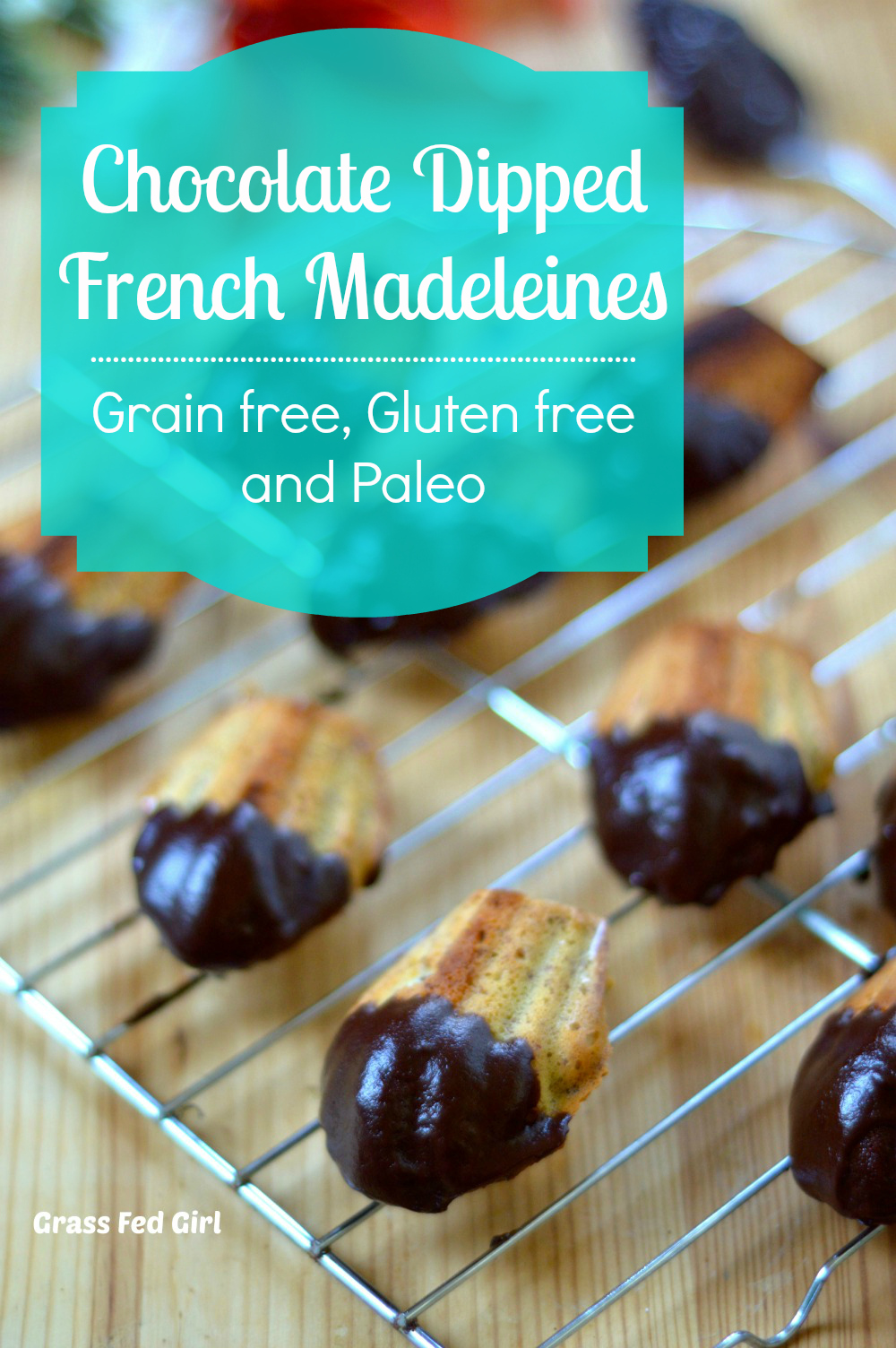 Chocolate Dipped French Madeleines Grain Free Gluten