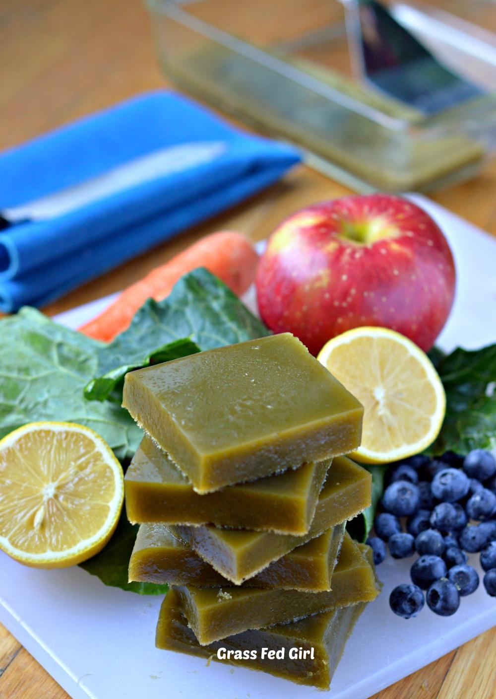 Green Juice Detox Paleo Gelatin Gummies