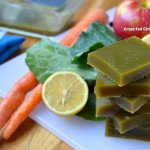 Green Juice Detox Paleo Gelatin Gummies (low carb, gluten and dairy free, )