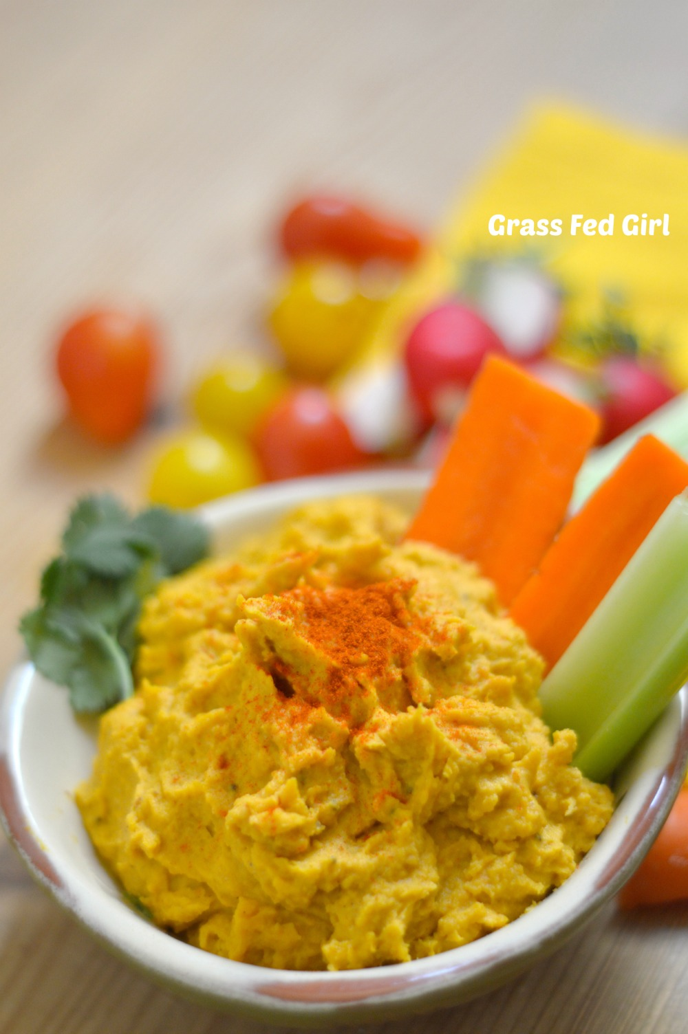 Paleo and Low Carb Pumpkin Hummus Recipe | Grass Fed Girl