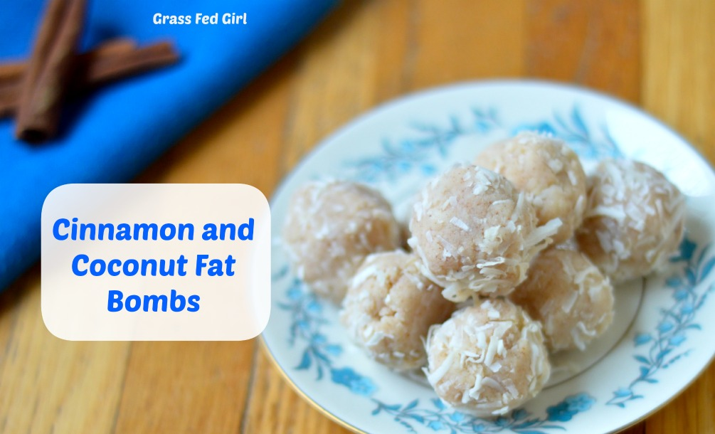 Coconut and Cinnamon Keto Fat Bombs for Low Carb Ketogenic Diet