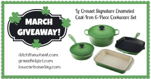 March Le Cruset Cookware Set Giveaway $599 value