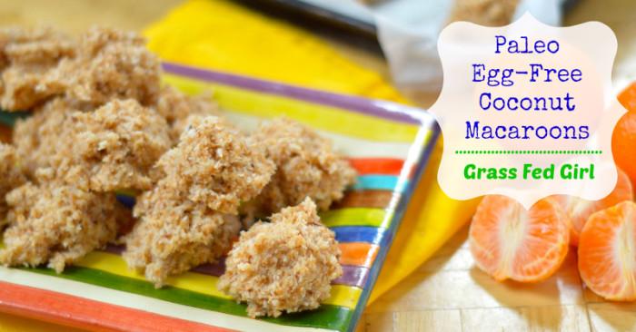 Easy Paleo No Bake Egg Free Toasted Coconut Macaroon