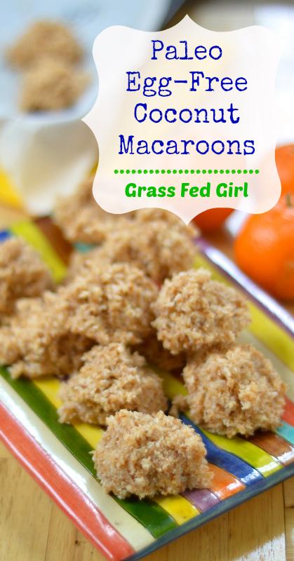 Easy Paleo No Bake Egg Free Toasted Coconut Macaroon Recipe | Grass ...