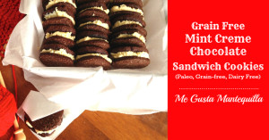 Gluten Free Chocolate Mint Creme Sandwich Cookie