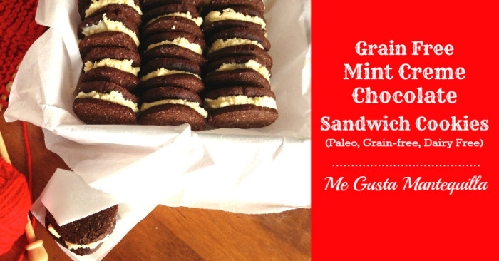 Paleo Mint Creme Chocolate Sandwich Cookie Recipe