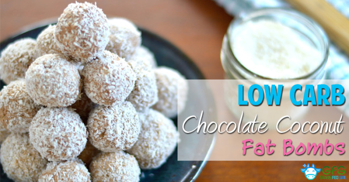 Low Carb Chocolate Coconut Fat Bombs