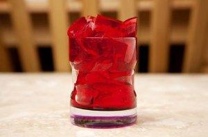 healthy jello gelatin hibiscus