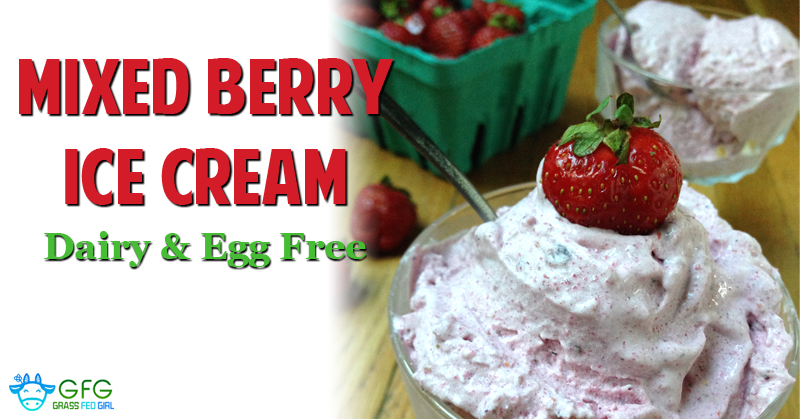 Mixed Berry Ice Cream (Dairy & Egg Free)