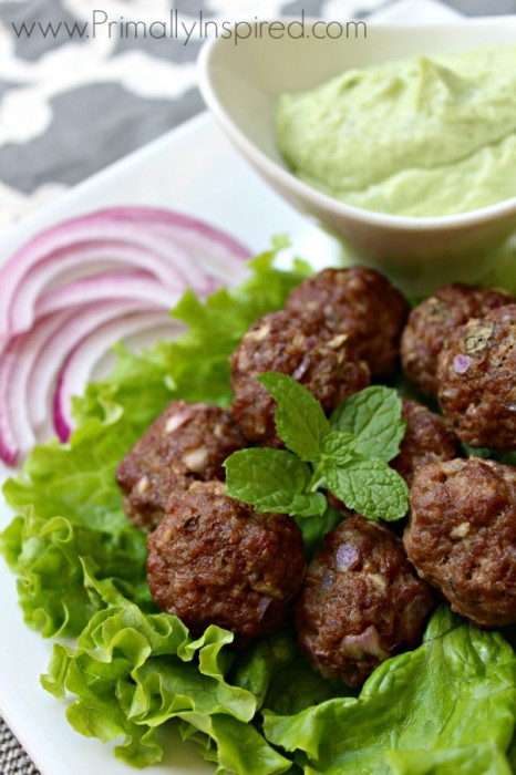 Greek-Meatballs-Avocado-Tzatziki-Sauce