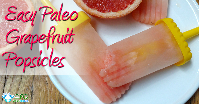 Easy Low Carb and Paleo Grapefruit Popsicles