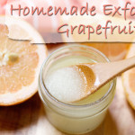 Homemade Exfoliating Grapefruit Essential Oil Scrub