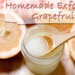 Homemade Exfoliating Grapefruit Essential Oil Scrub